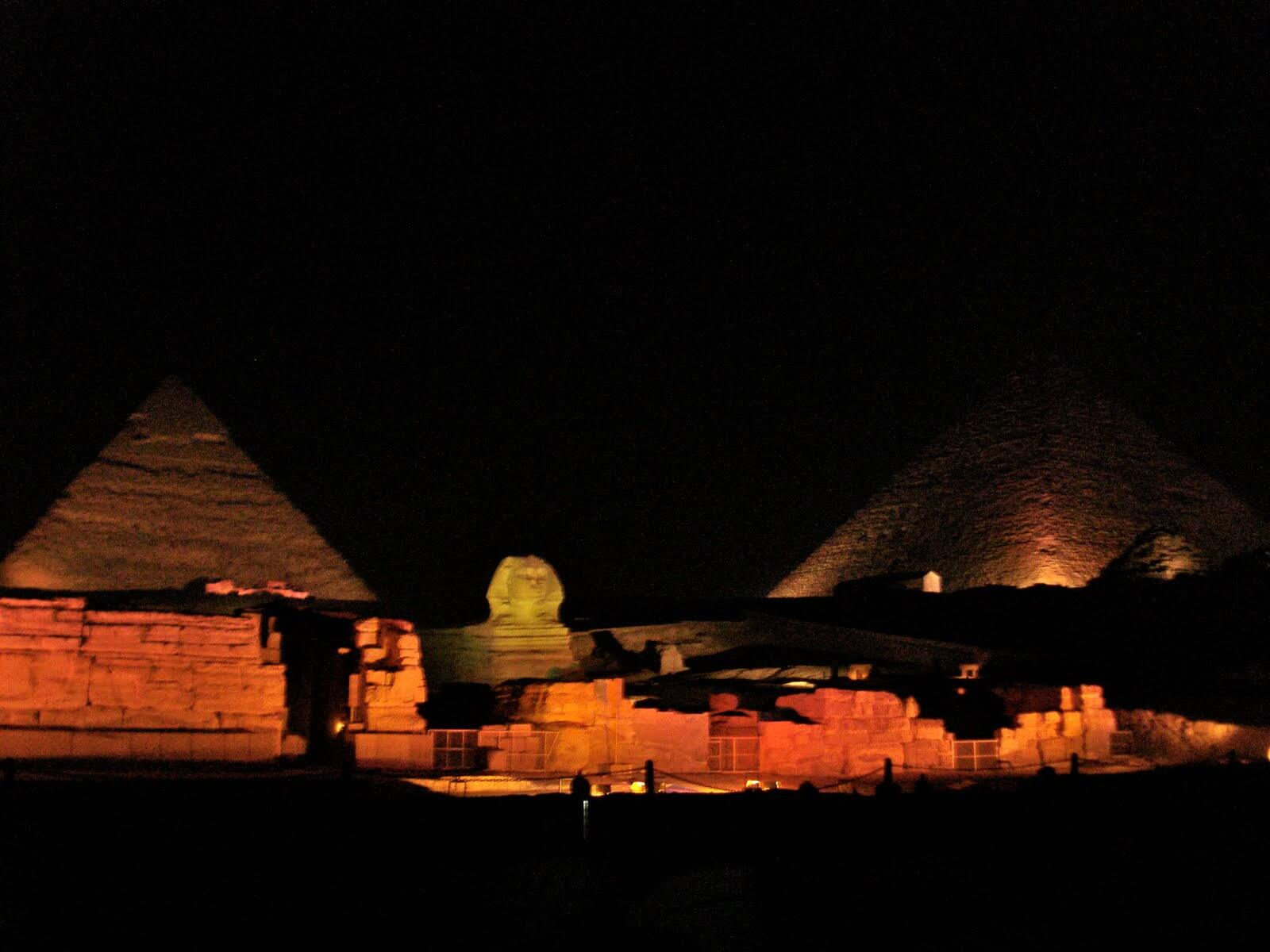 Sound and Light Show Pyramids